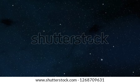 2d illustration. Deep interstellar space. Stars, planets and moons and comets. Various science fiction creative backdrops. Space art. #1268709631