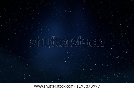 2d illustration. Deep space stellar background. Black universe. Cold nebula. #1195873999