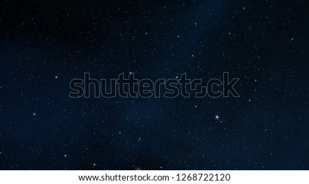 2d illustration. Deep vast space. Stars, planets and moons. Various science fiction creative backdrops. Space art. Alien solar systems. Realistic background #1268722120