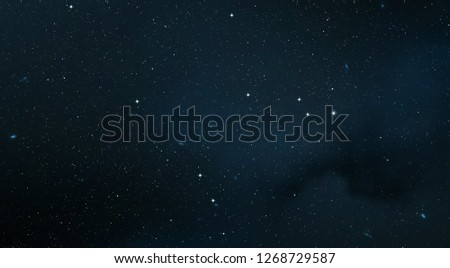 2d illustration. Deep vast space. Stars, planets and moons. Various science fiction creative backdrops. Space art. Alien solar systems. Realistic background #1268729587