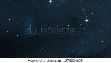 2d illustration. Deep vast space. Stars, planets and moons. Various science fiction creative backdrops. Space art. Alien solar systems. Realistic background cosmos.