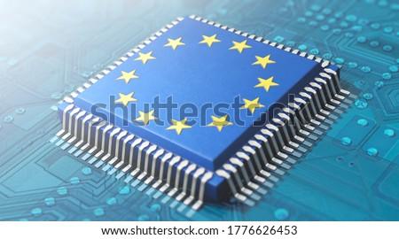 3D illustration, Digitization in the EU