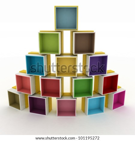 3d illustration empty colorful stand