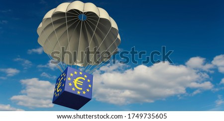 3D illustration, EU rescue package