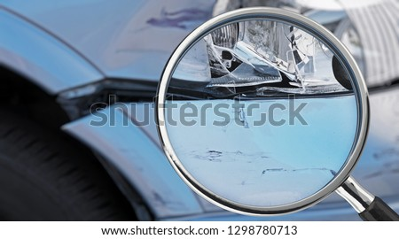 3D-illustration, Exemaning of damaged car