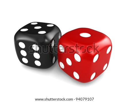 3D Illustration Featuring a Pair of Dice #94079107
