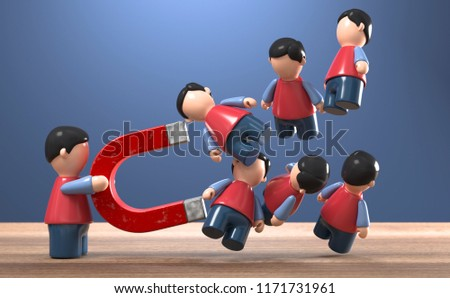 3D illustration figures lead magnet