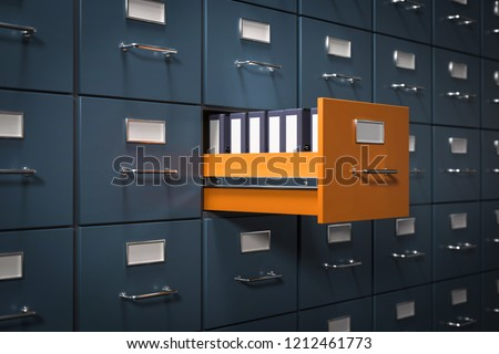 3D illustration file cabinet