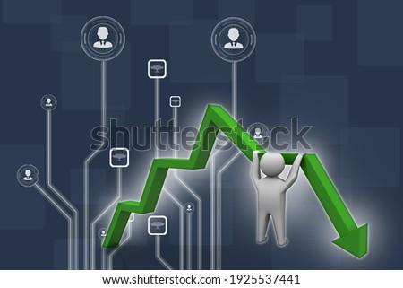 3d illustration Financial crisis concept, Economic Crisis. Business concept Stock photo ©