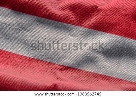 3d illustration flag of Austria. close up waving flag of Austria. flag symbols of Austria.