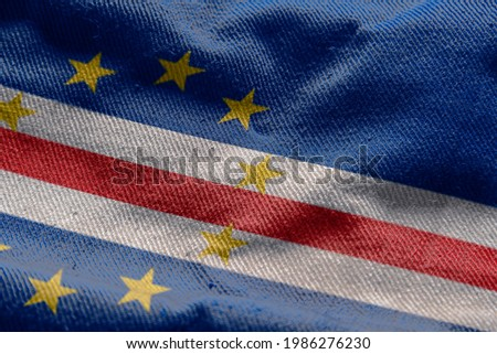 3d illustration flag of Cape Verde. close up waving flag of Cape Verde. flag symbols of Cape Verde. Foto stock ©