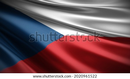 3d illustration flag of Czech. close up waving flag of Czech. flag symbol of Czech. Foto stock ©