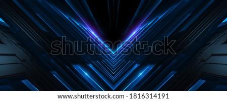 3d illustration futuristic scifi building with blue light Сток-фото ©