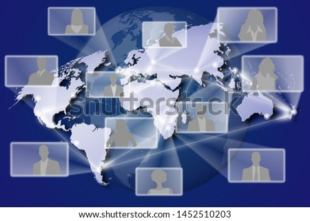 3D illustration. Global connection. Internet network connections connect the whole world.