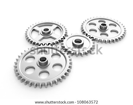 3d illustration: Group gears