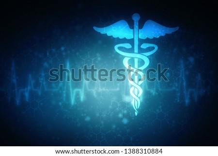 2d illustration Health care and medical logo