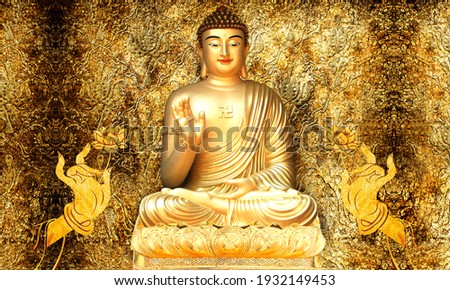 3d illustration image of a buddha as a compassionate hybrid