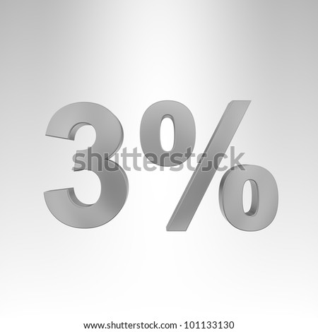 3D illustration. Interest rate - stock photo