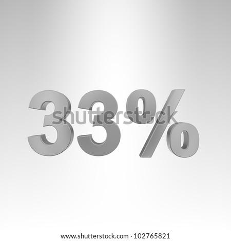3D illustration. Interest rate