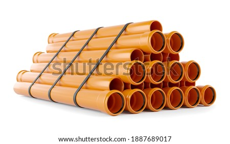 3D illustration, Isolated on white background PVC sewer pipe Stock photo ©