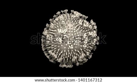3d illustration lymphocytes, t cells or cancer cells