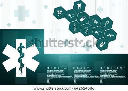 2d illustration medicine pharmacy sign snake #642624586
