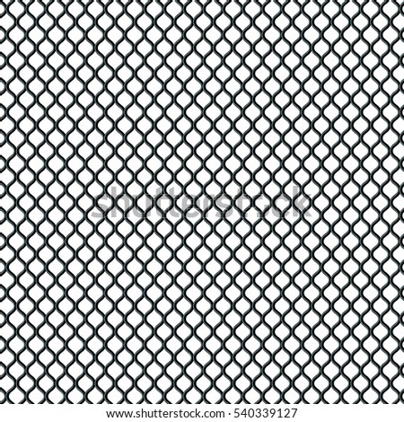 3d illustration Metal grid. Metallic mesh texture background with reflections.