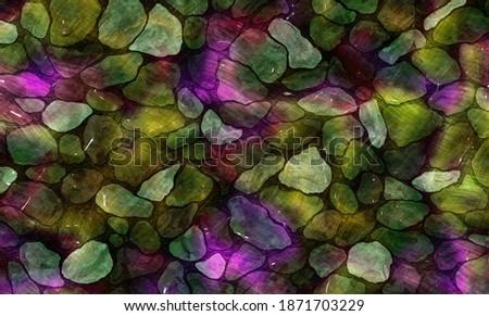 3D illustration,modern background illustration,fractal surface,light effect texture Foto stock ©