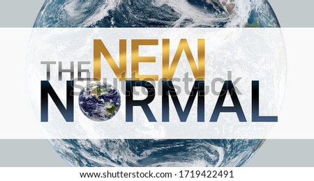 3d illustration. New normal concept. Logo graphic design 'new normal' text for ad, banner, graphic elements. coronavirus motivation After the epidemic the COVID-19 virus caused the new normal worldwid Stock fotó ©