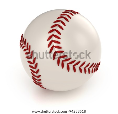 3D Illustration of a Baseball
