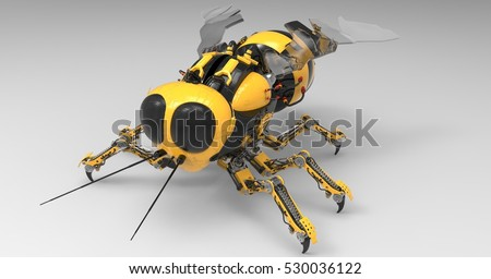 3d illustration of a black and...
