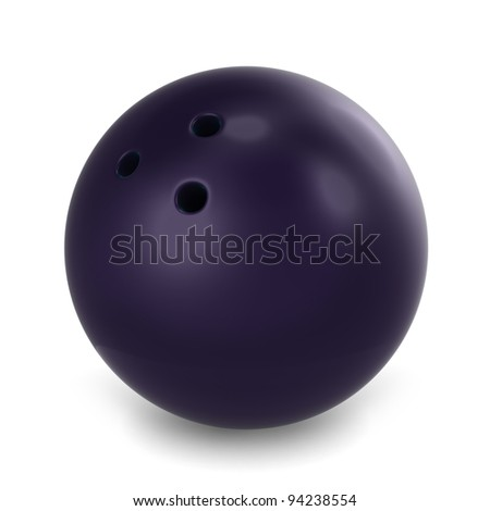 3D Illustration of a Bowling Ball