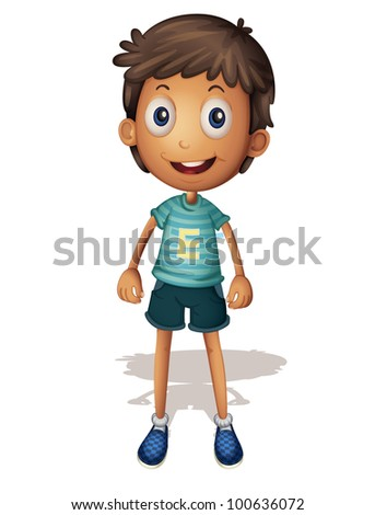 3D illustration of a boy on white background - EPS VECTOR format also available in my portfolio.
