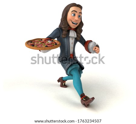 3D Illustration of a cartoon man in historical baroque costume Photo stock ©