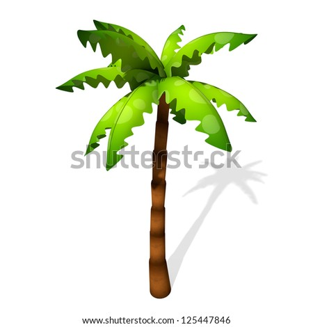 Cartoon Palm Tree Island of a Cartoon Palm Tree