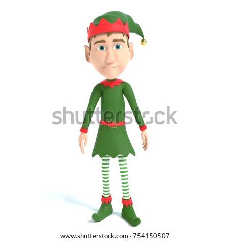 3d illustration of a Christmas Elf