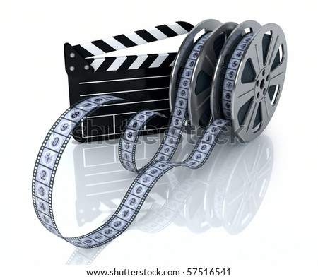 reels of film. of a film reels and film