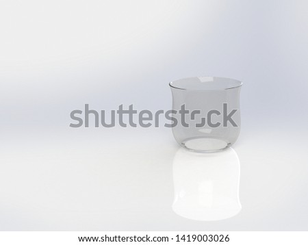 3D Illustration of a Glass