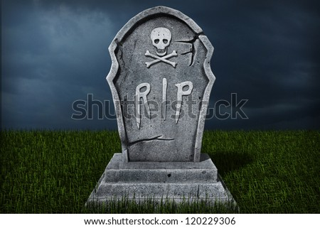 3d Illustration of a Gravestone