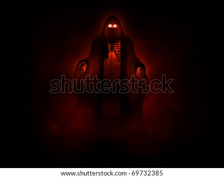 3d illustration of a grim reaper