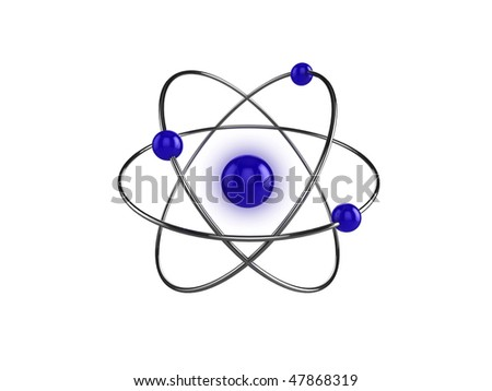 3d illustration of a science, or atom symbol, isolated on a white background - stock photo