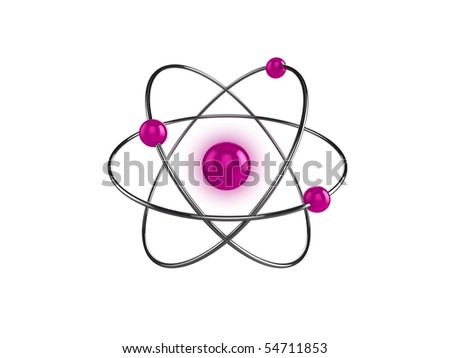 3d illustration of a science, or atom symbol, isolated on a white background