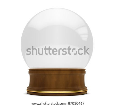 3D Illustration of a Snow Globe
