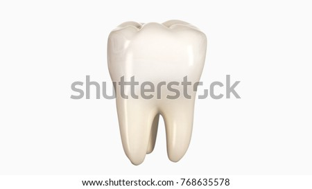 3D illustration of a tooth