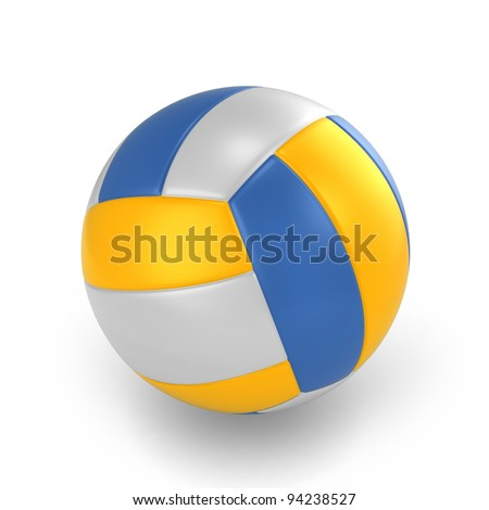 3D Illustration of a Volleyball - stock photo