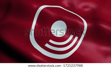 3D Illustration of a waving flag of Himi (Japan country) Сток-фото ©