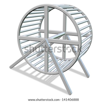 3d illustration of a white metal running wheel / Running wheel