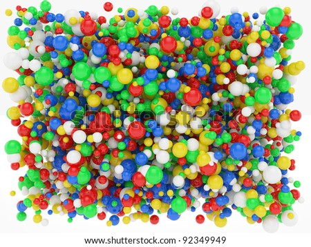 3d illustration of abstract colourful sphere background
