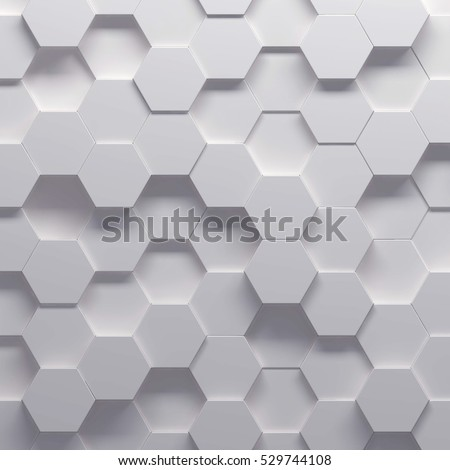 3d illustration of abstract hexagonal pattern