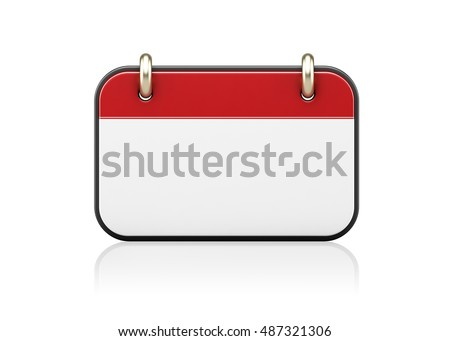 3d illustration of an calendar icon isolated on white background. #487321306